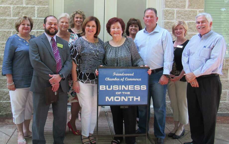 Hill family members and Friendswood Chamber of Commerce staff celebrate the June Business of the Month award. for family businesses Hill Sand Company, Hill Waste Services and Dixie Farm Road Landfill.