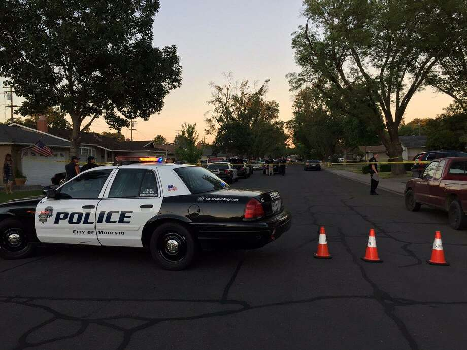 Police were called to the 1600 block of Bay Meadows Drive just after 7 p.m. Saturday. Photo: Modesto Police Department