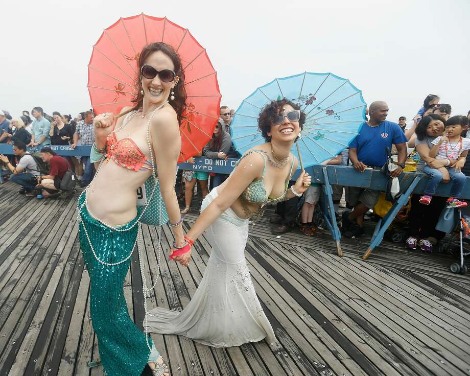 Parade attendees at The Mermaid Parade: Coney Island USA at Coney Island on June 17, 2017 in New York City. Photo: John Lamparski/Getty Images