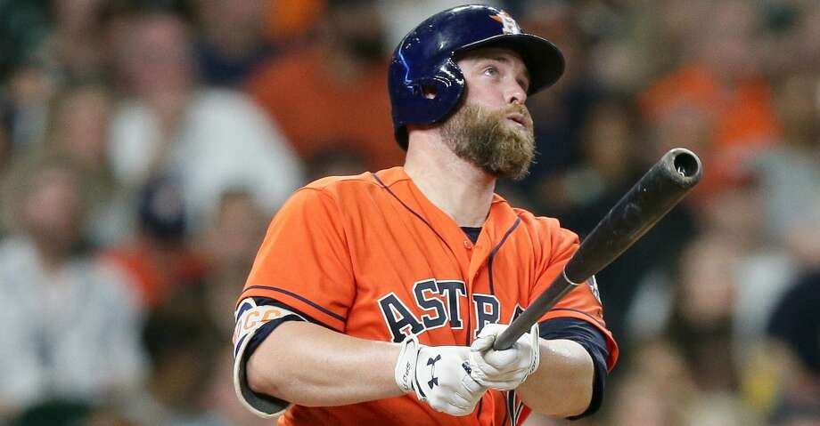 Even though he can no longer count on the cozy confines of Yankee Stadium for a numbers boost, Brian McCann's retooled swing has found a groove in his first season at Minute Maid Park. Photo: Bob Levey/Getty Images