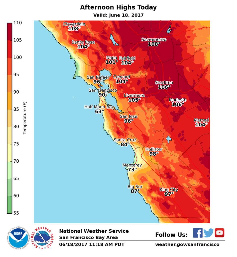 SF hits 88 breaking 93 record as heat wave hits Bay Area SFGate