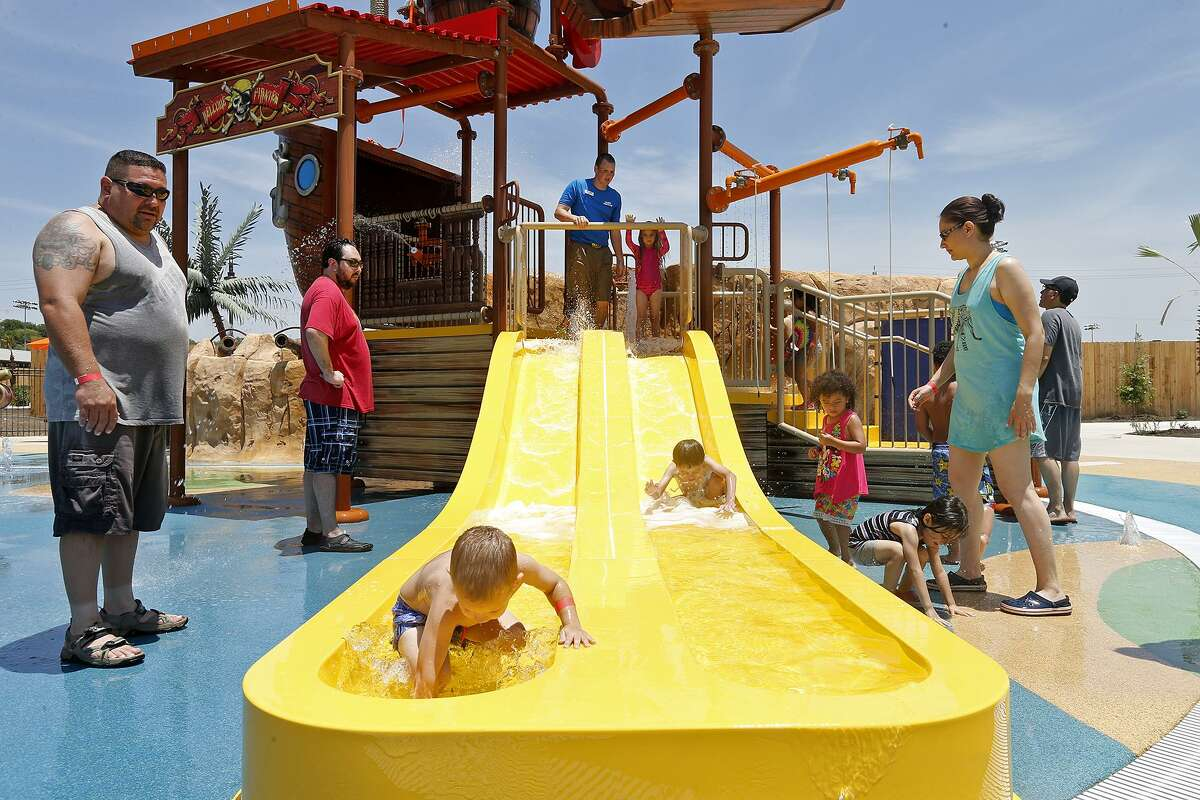 Families enjoy Ship Wreck Island, part of Morgan's Inspiration Island at Morgan's Wonderland on June 18.
