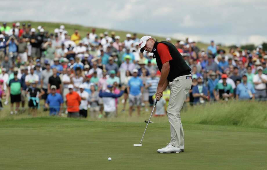 Steve Stricker putts on the ninth hole during the fourth round of the U.S. Open golf tournament Sunday, June 18, 2017, at Erin Hills in Erin, Wis. (AP Photo/David J. Phillip) Photo: David J. Phillip, STF / Copyright 2017 The Associated Press. All rights reserved.