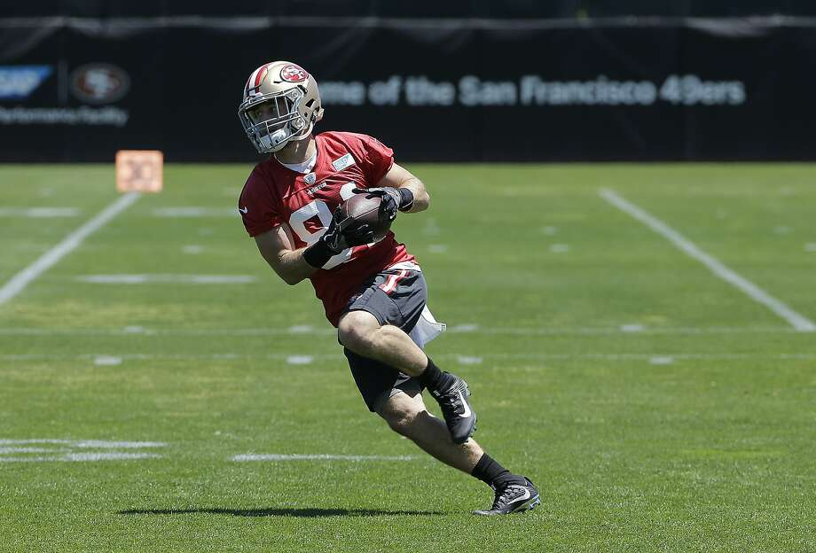 San Francisco 49ers' Trent Taylor during the team's organized team activity at its NFL football training facility in Santa Clara, Calif., Wednesday, May 31, 2017. (AP Photo/Jeff Chiu) Photo: Jeff Chiu, Associated Press
