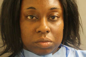 FILE - A mugshot of Laquita Lewis on June 18, 2017. Lewis is accused of stabbing and killing her 4-year-old daughter at a northwest Harris County apartment complex.