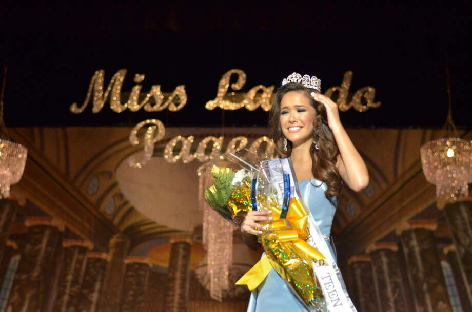 Fabiola Chavez earns the title of Miss Teen Laredo on Saturday evening during the Miss Laredo Pageant at the Laredo Civic Center. Photo: Francisco Vera