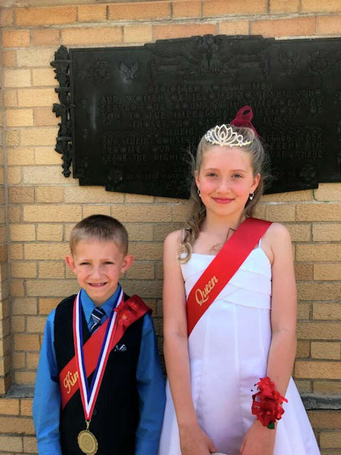 The 2017 Poppy king, Keegan Toner, 7, and queen, Amelia Warner, 9.