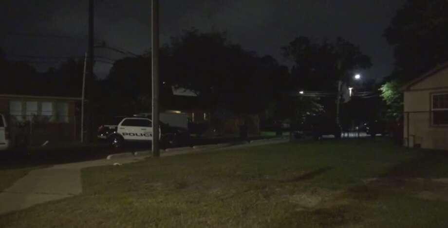 Police are investigating a north Houston neighborhood brawl turned shooting late Sunday that left three men injured. (Metro Video) Photo: Metro Video