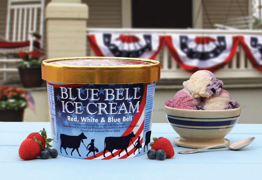 Blue Bell has returned its patriotic ice cream Red, White, and Blue Bell just in time for the Fourth of July weekend. Photo: Courtesy Of Blue Bell Creamery