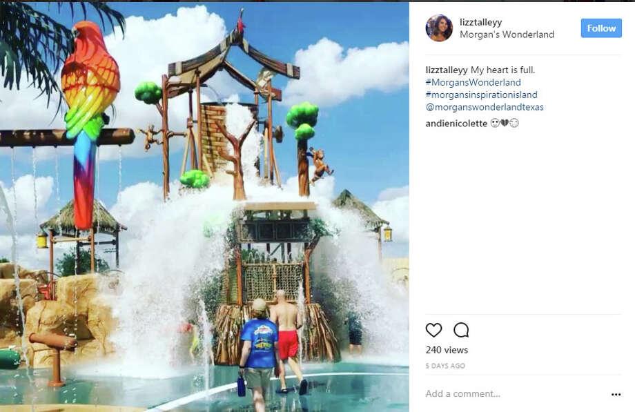"""lizztalleyy: """"My heart is full. #MorgansWonderland #morgansinspirationisland @morganswonderlandtexas"""" Photo: Instagram/lizztalleyy"""