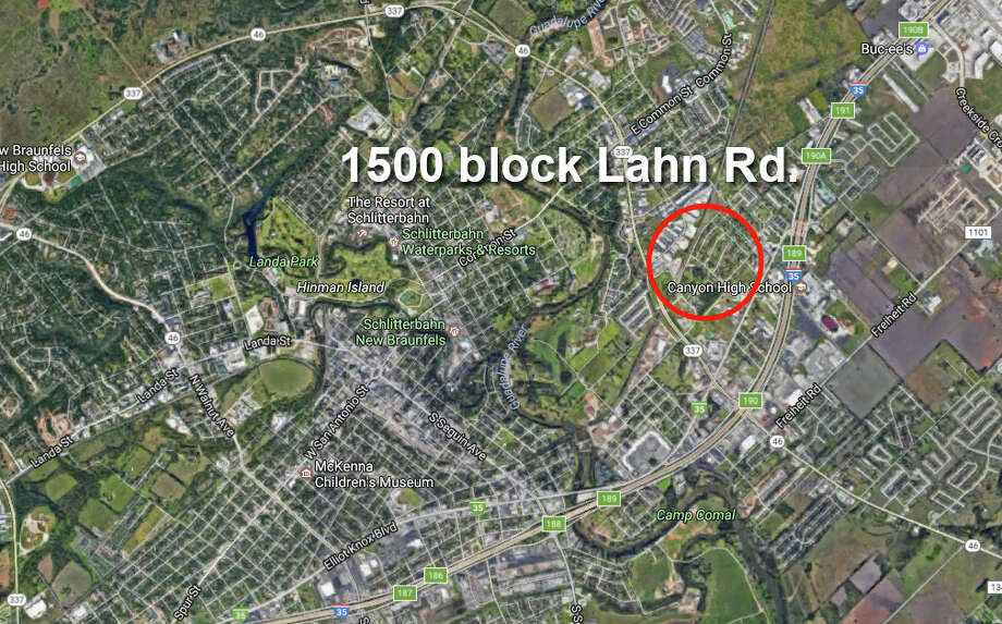 New Braunfels police responded to the 1500 block of Lahn Road for a report of shots fired at 10:14 p.m. on Saturday, June 18, according to a news release. Upon arrival they discovered 17-year-old Conrad Kuntz suffering from a gunshot wound. Photo: Google Maps