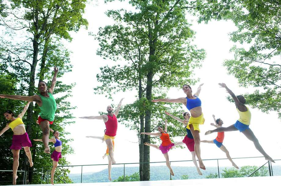 Daniel Gwirtzman Dance Company performing in the Inside/Out free outdoor dance series. Photo by Christopher Duggan; Courtesy of Jacob's Pillow Dance