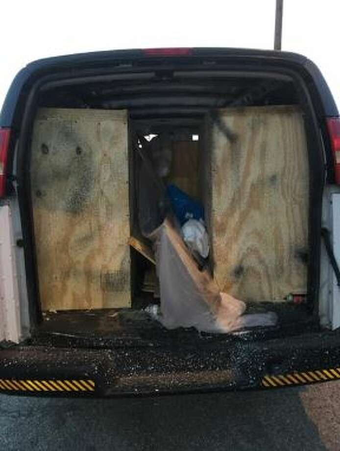 Border Patrol agents rescued three Mexican nationals hidden inside a cabinet in a van on Thursday. Photo: Courtesy