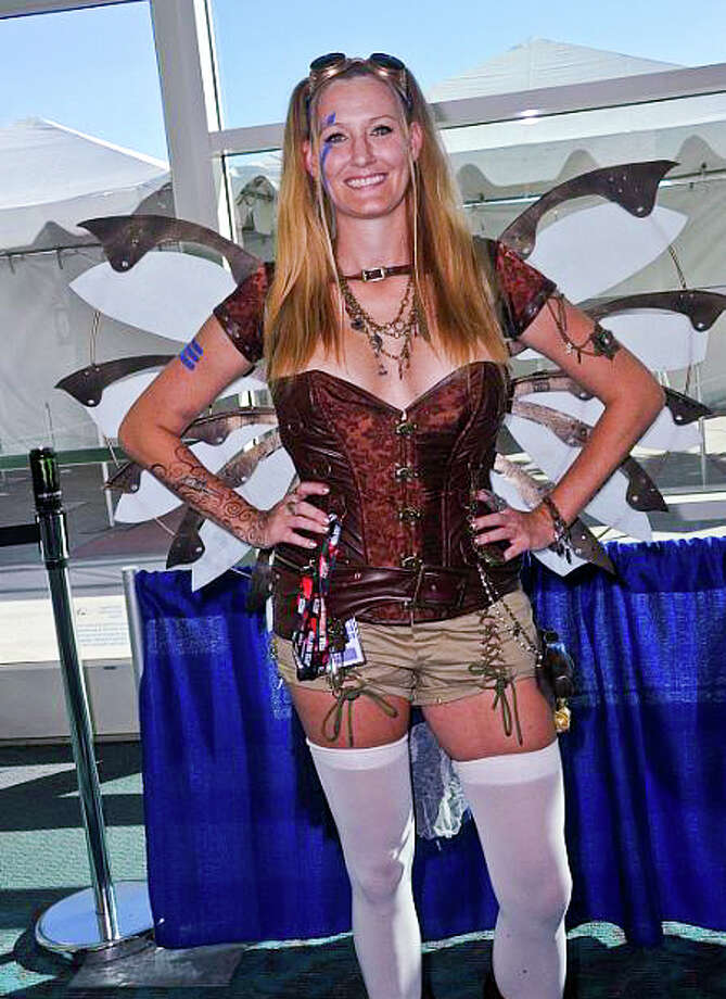 Cosplayer dressed as Steampunk on day 2 attends Comic-Con International 2016 at San Diego Convention Center on July 22, 2016 in San Diego, California. Photo: Albert L. Ortega/Getty Images