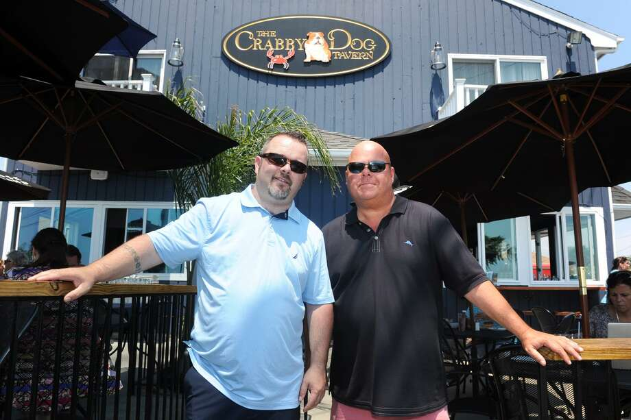 Niall O'Neill and Chris Delmonico of Crabby Dog Tavern, in Stratford, Conn. June 13, 2017. Photo: Ned Gerard / Hearst Connecticut Media / Connecticut Post