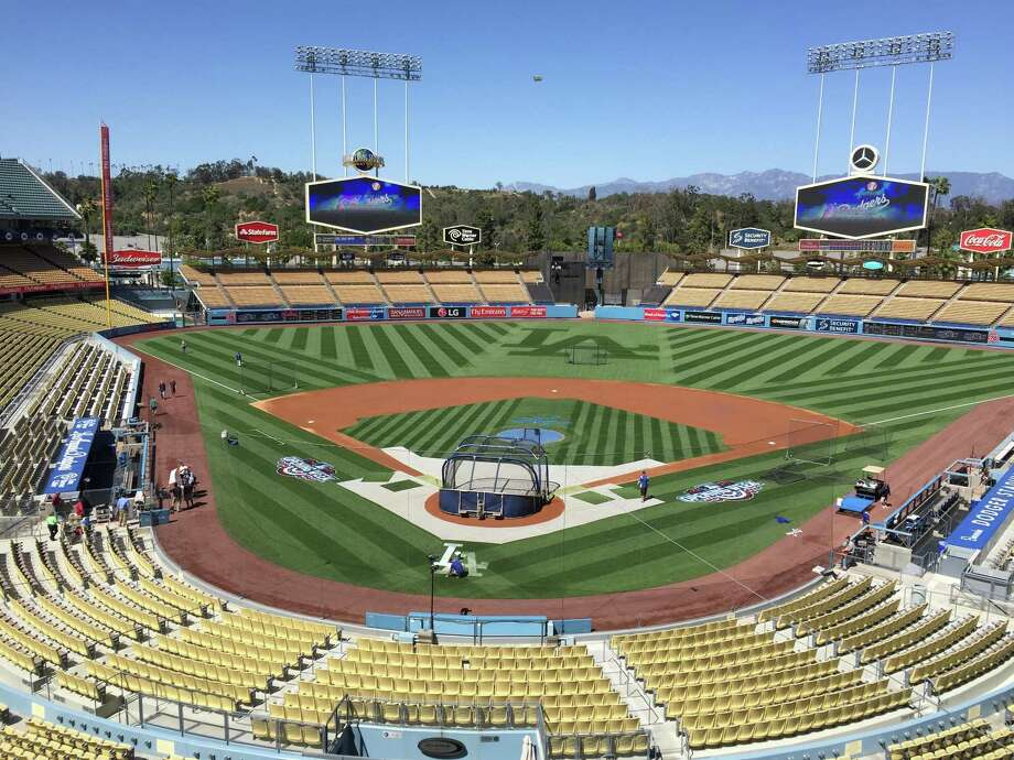 Dodger Stadium in Los Angeles is shown in 2016 before a Dodgers-Giants game. Photo: Henry Schulman / San Francisco Chronicle