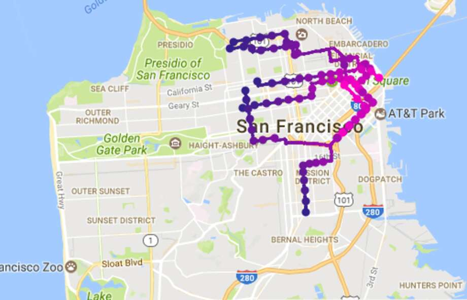 Lyft Shuttle's new route map. Photo: Lyft