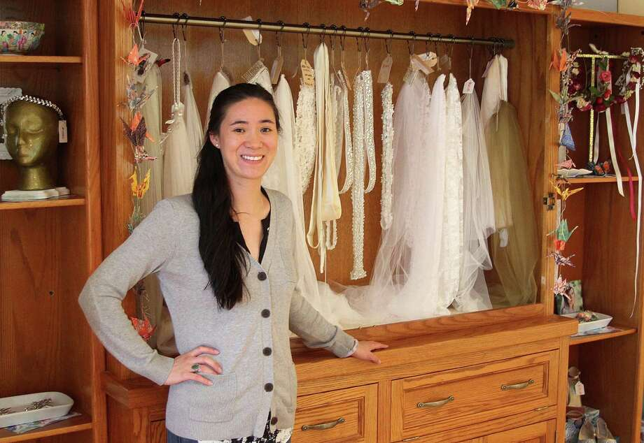 Allison Eng Kenyon stands in her shop, Ruby Bridal Boutique, on Tuesday, June 6, 2017, in New Milford, Conn. Photo: Chris Bosak / Hearst Connecticut Media / The News-Times