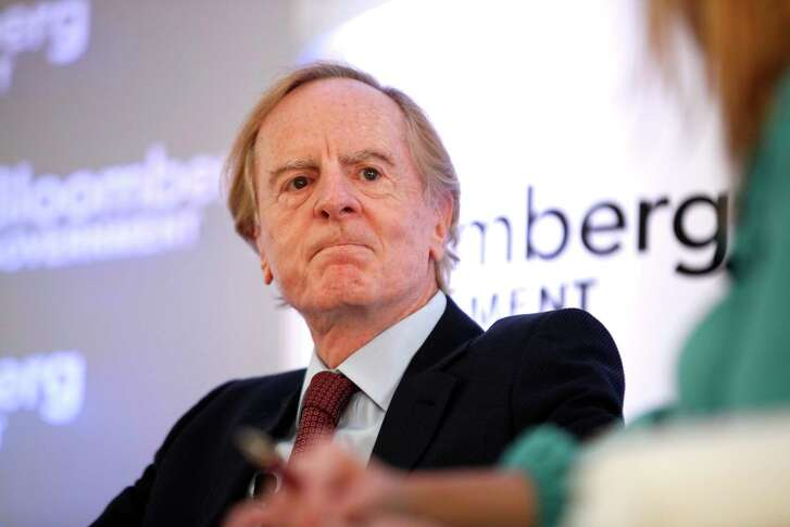 """John Sculley, former chief executive officer of Apple Inc., speaks at Bloomberg Government's """"Mind The Gap: Connecting Health Care Policy with Next Century Innovation"""" conference in Washington, D.C., U.S., on Tuesday, Nov. 5, 2013. The conference brings together business and government leaders to discuss the transformation of health care through technology and innovation. Photographer: Julia Schmalz/Bloomberg ***Local Caption *** John Sculley"""