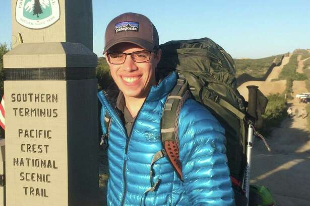 Marcus Mazzaferri starting out on the Pacific Crest Trail in April.
