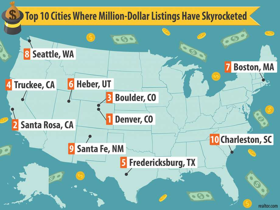 Take a look at the slideshow above to see the cities where seven-figure listings have skyrocketed. Photo: Realtor.com