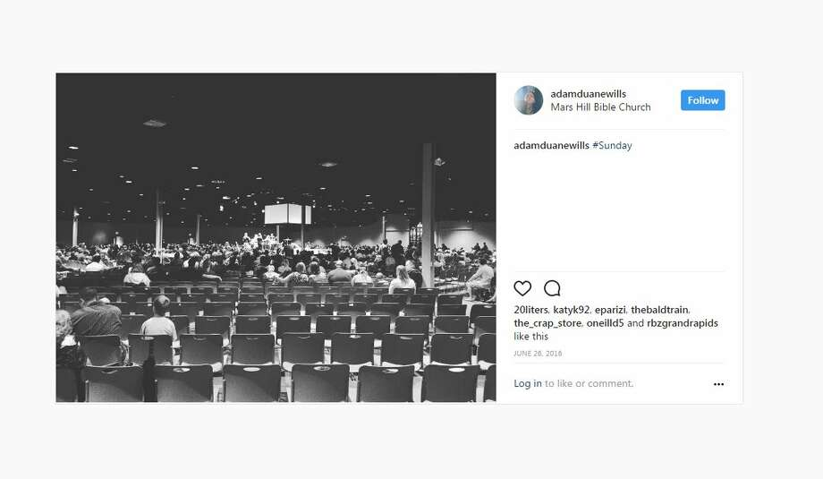 """The church revamped a huge anchor store, turning it into a huge, open chapel, nicknamed """"The Hanger"""" because it was big enough to fit an airplane.  It doesn't look like a traditional church, but it can fit hundreds of worshippers. Photo: Instagram"""