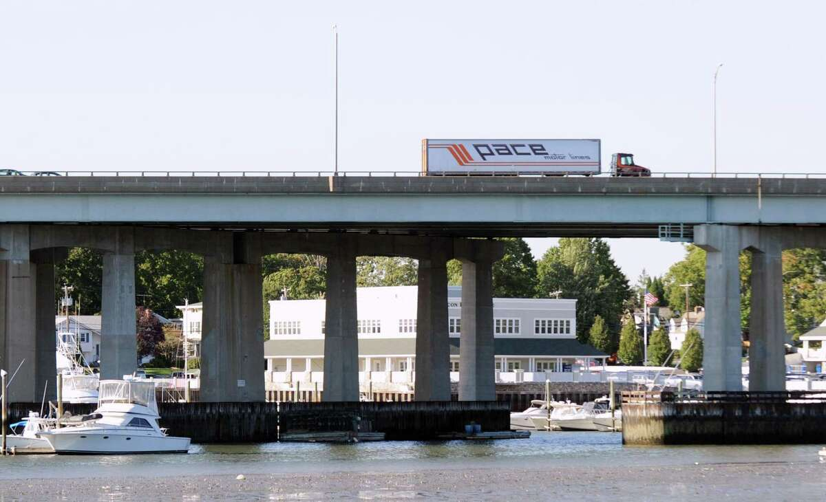 The Michael L. Morano Bridge, more commonly referred to as the Mianus River Bridge, as seen from Riverside looking north. The state wants to repair the bridges and road surface of I-95 in 2021.