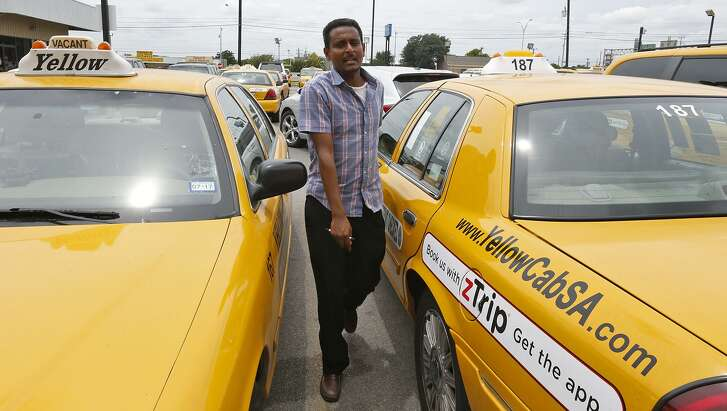 Yellow Cab driver Anwar Beshir prepares to leave the headquarters after turning in his keys Monday June 19, 2017.