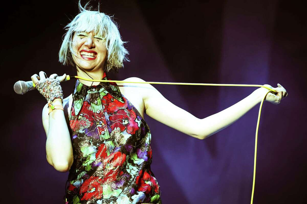 Singer Karen O of the Yeah Yeah Yeahs performs onstage during day 1 of the 2013 Coachella Valley Music & Arts Festival at the Empire Polo Club on April 12, 2013 in Indio, California.