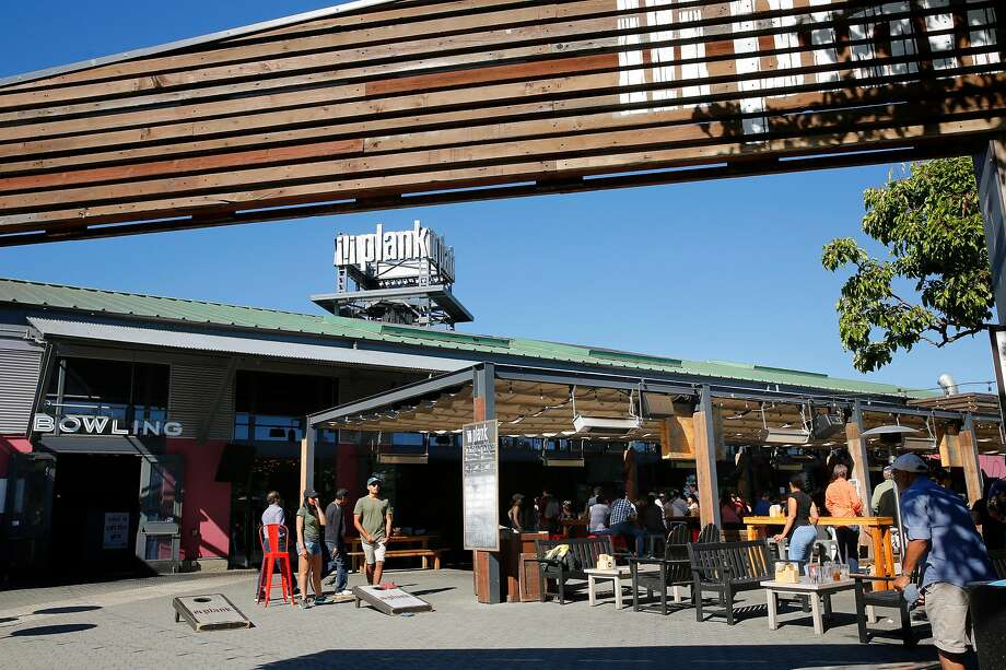 Plank, a beer garden, bowling and bocce establishment in Jack London Square in Oakland, Ca., seen on Friday June 16, 2017. The square is seeing an increase of new restaurants moving in. Photo: Michael Macor, The Chronicle
