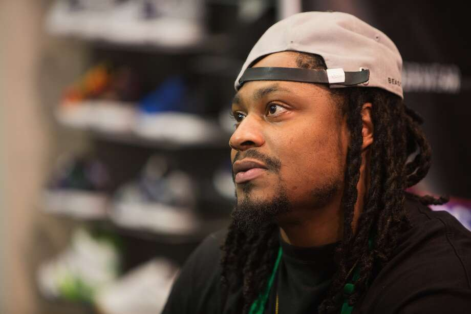 Oakland Raiders Running Back Marshawn Lynch attends in store appearance for the launch of BEASTMODE x PSD at Champs at Bellevue Square on November 13, 2015 in Bellevue, Washington. (Photo by Mat Hayward/Getty Images for PSD Underwear) Photo: (Photo By Mat Hayward/Getty Images For PSD Underwear)