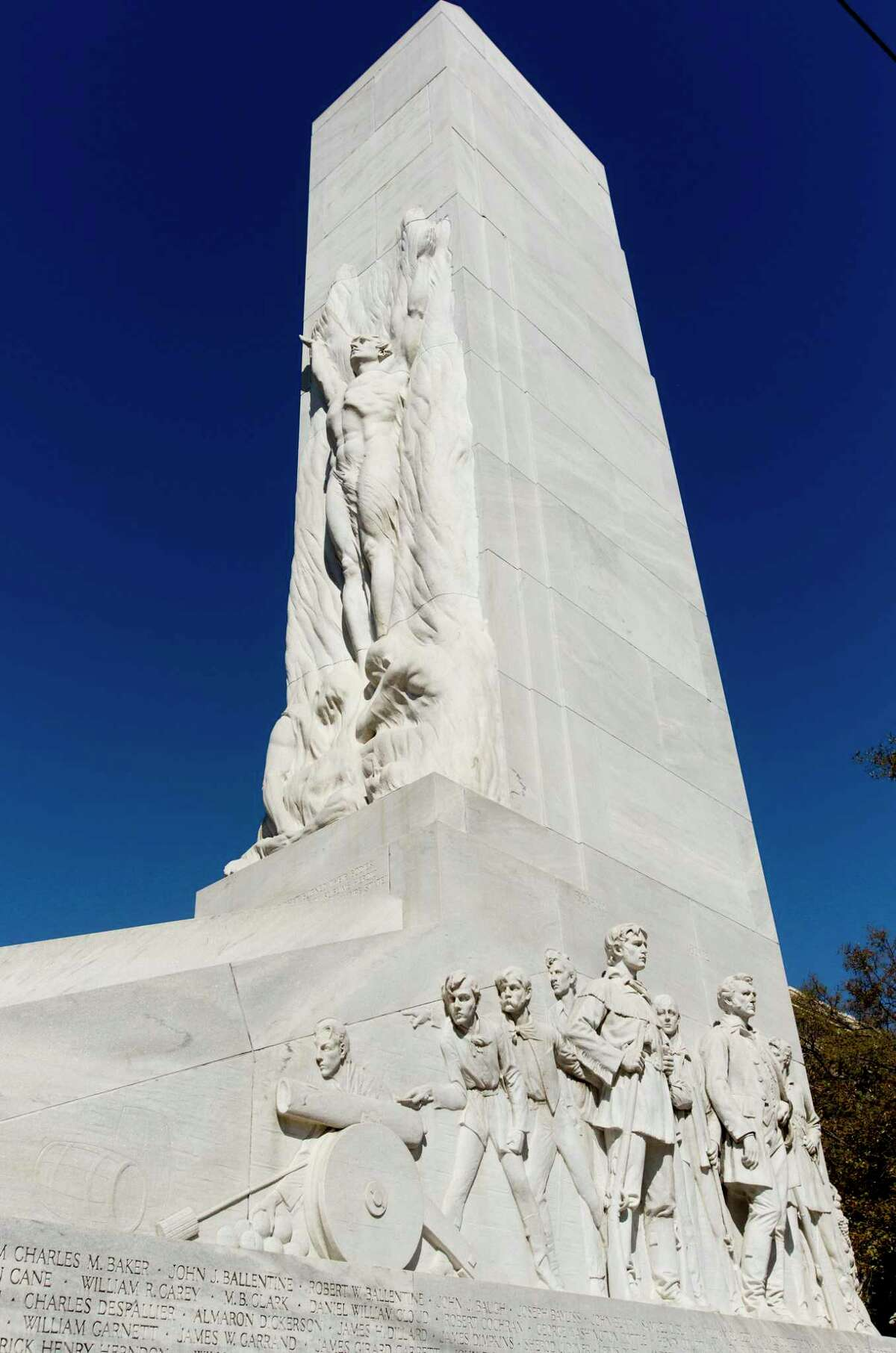 The Texas Historical Commission is considering a historic buildings and structures permit for work that includes repair, relocation and restoration of the Cenotaph, a 58-foot-tall marble monument to nearly 200 fallen Alamo defenders killed or executed in the 1836 battle for Texas independence.