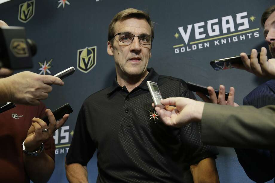 Vegas Golden Knights general manager George McPhee holds a lot of cards in the expansion draft as other teams want players he can take, or want to shield their players from being taken. Photo: John Locher, Associated Press
