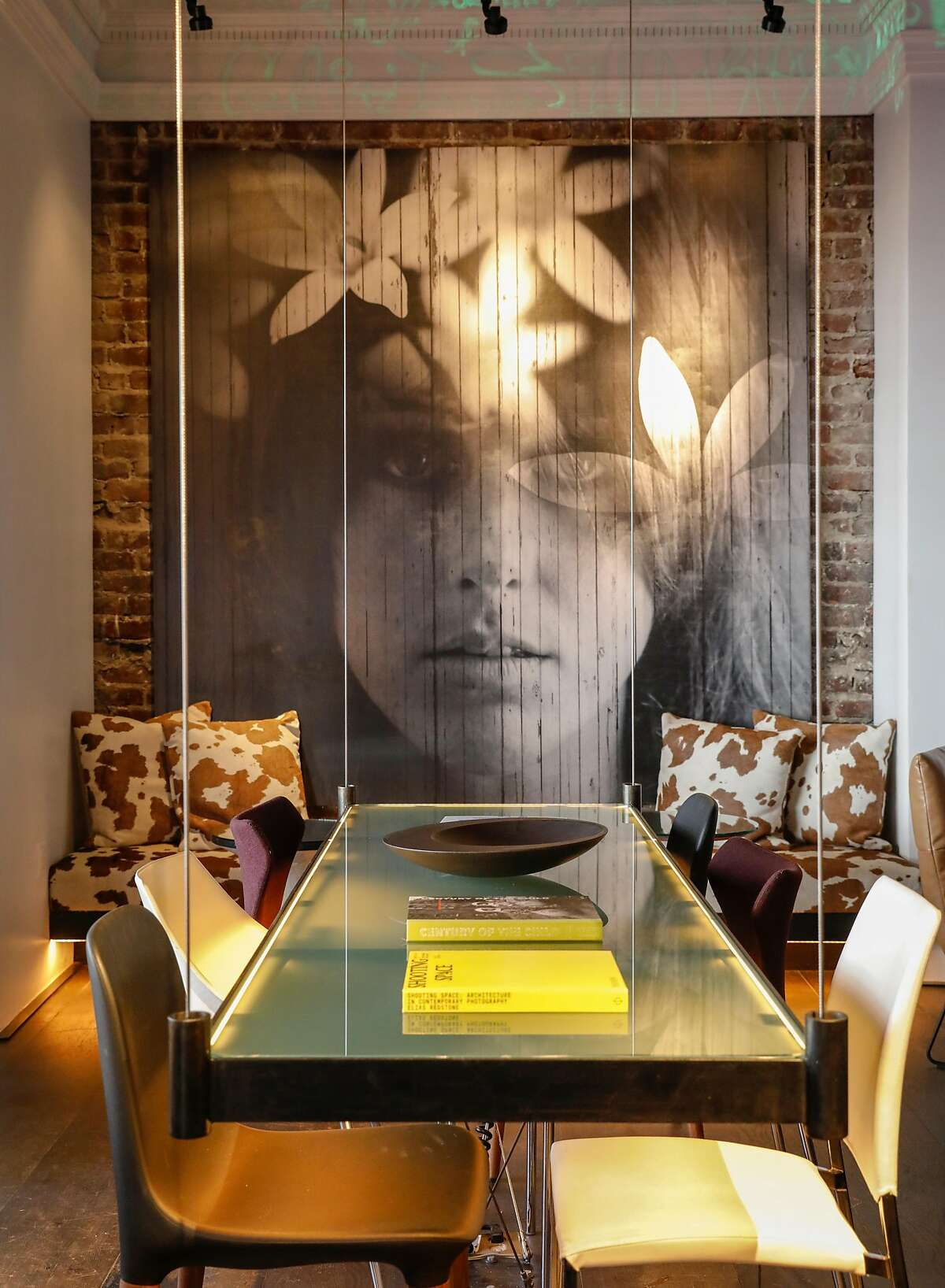 A photo of Grace Slick is seen in the Mantel Bar of the Hotel Zeppelin San Francisco on Monday, June 19, 2017 in San Francisco, Calif.