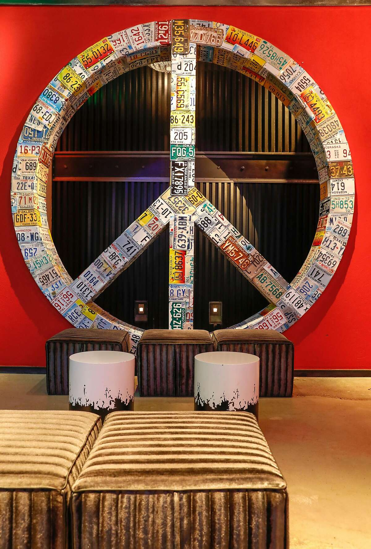 The Peace Room in The Hotel Zeppelin San Francisco is seen on Monday, June 19, 2017 in San Francisco, Calif.