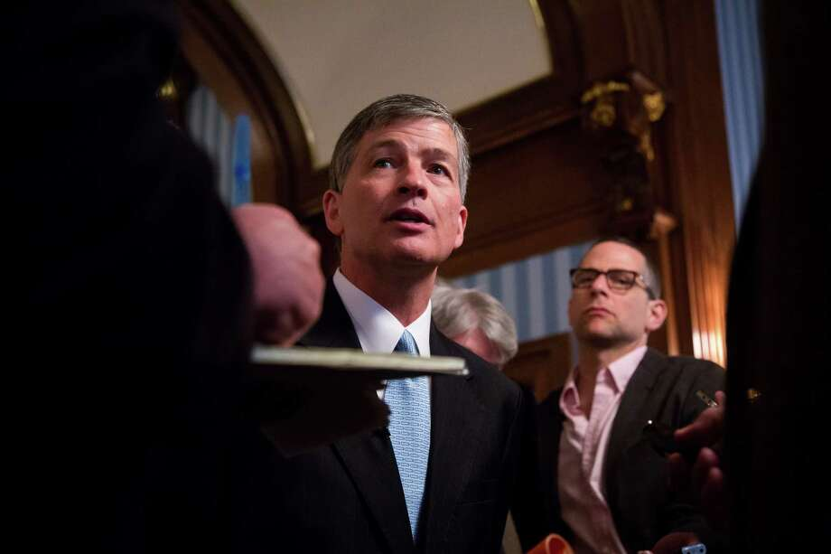 U.S. Rep. Jeb Hensarling of Texas and chairman of the House Financial Services Committee, speaks to members of the media after unveiling the Financial Choice Act at the Economic Club of New York in New York on June 7.  (Michael Nagle / Bloomberg) Photo: Michael Nagle / Internal