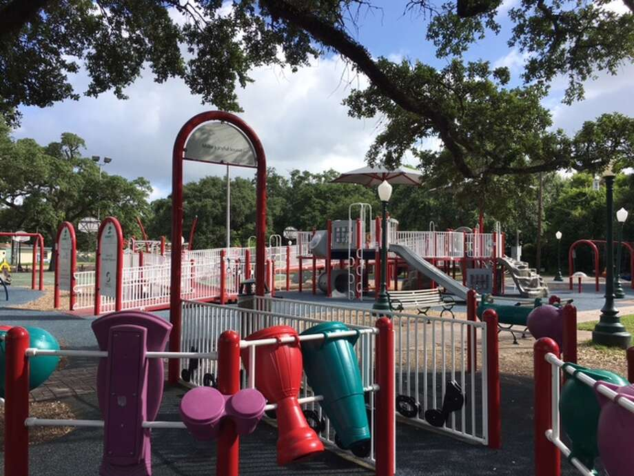 League City is planning upgrades to League Park as part of a downtown revitalization project. Photo: Mike Snyder/Houston Chronicle