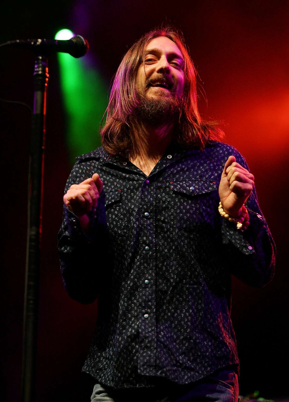 Singer Chris Robinson of The Black Crowes. The Black Crowes will bring their reunion tour to the Saratoga Performing Arts Center at 8 p.m. Saturday, July 25, Live Nation has announced.
