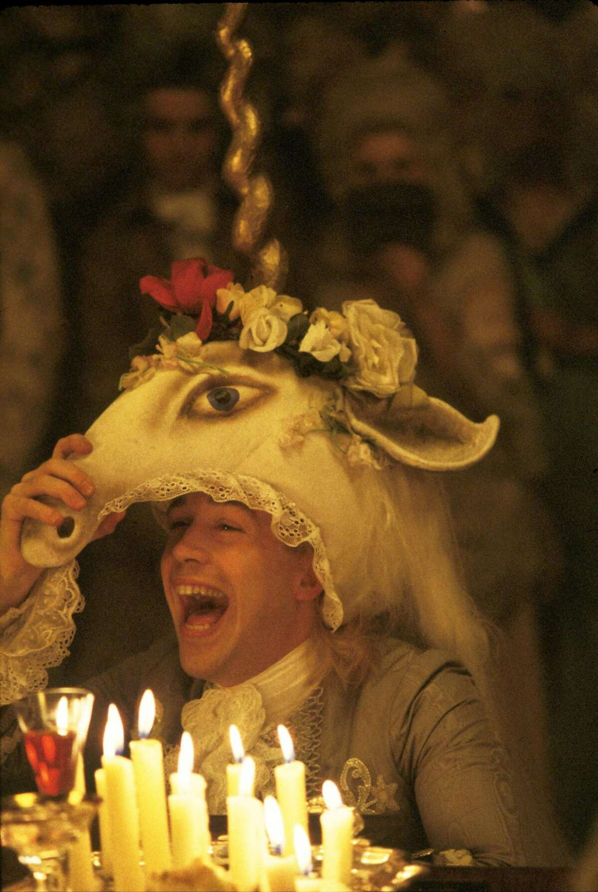 AMADEUS Director's Cut - Mozart (TOM HULCE) in The Saul Zaentz Company s presentation of Sir Peter Shaffer's Amadeus Director's Cut, directed by Milos Forman and distributed by Warner Bros. Pictures. Angelika films Amadeus