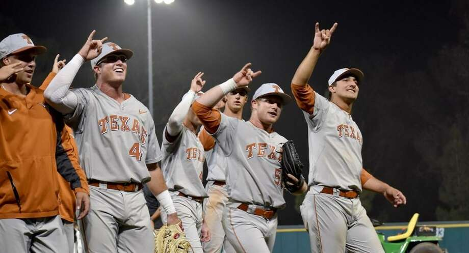 Ex-Texas and Churchill star Zane Gurwitz (second from right) overcame early-season struggles and was drafted by the Angels. Photo: Courtesy Photo /UT Athletics