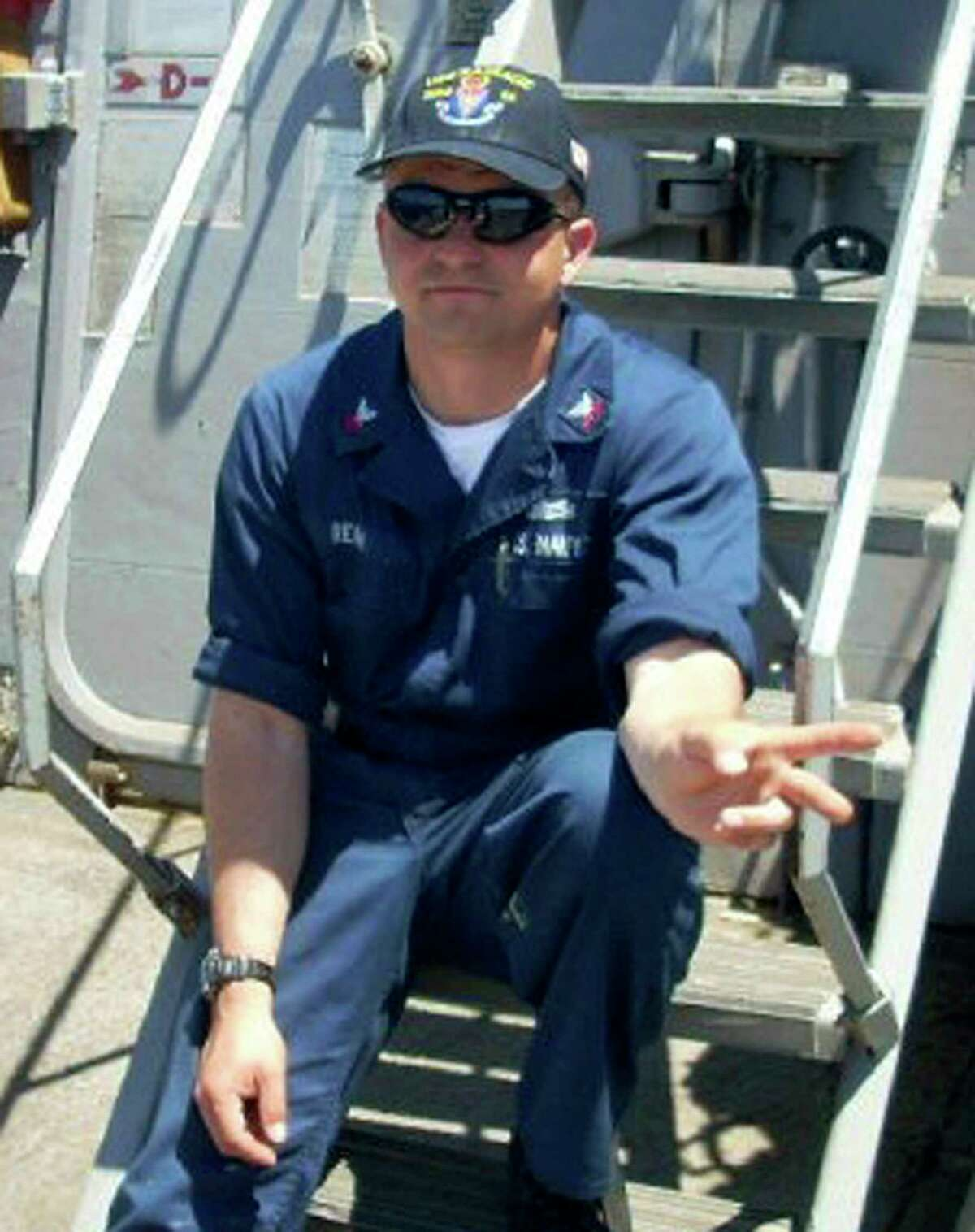 This undated photo released by the U.S. Navy, Monday, June 19, 2017, shows Fire Controlman 1st Class Gary Leo Rehm Jr., 37, from Elyria, Ohio. Rehm is one of the seven sailors who died in a collision between the USS Fitzgerald and a container ship off Japan on Saturday, June 17, 2017. (U.S. Navy via AP)