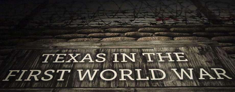 This is the entrance sign to the World War I exhibit at the Institute of Texan Cultures. Photo: John Davenport /San Antonio Express-News / ©John Davenport/San Antonio Express-News