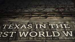 This is the entrance sign to the World War I exhibit at the Institute of Texan Cultures.