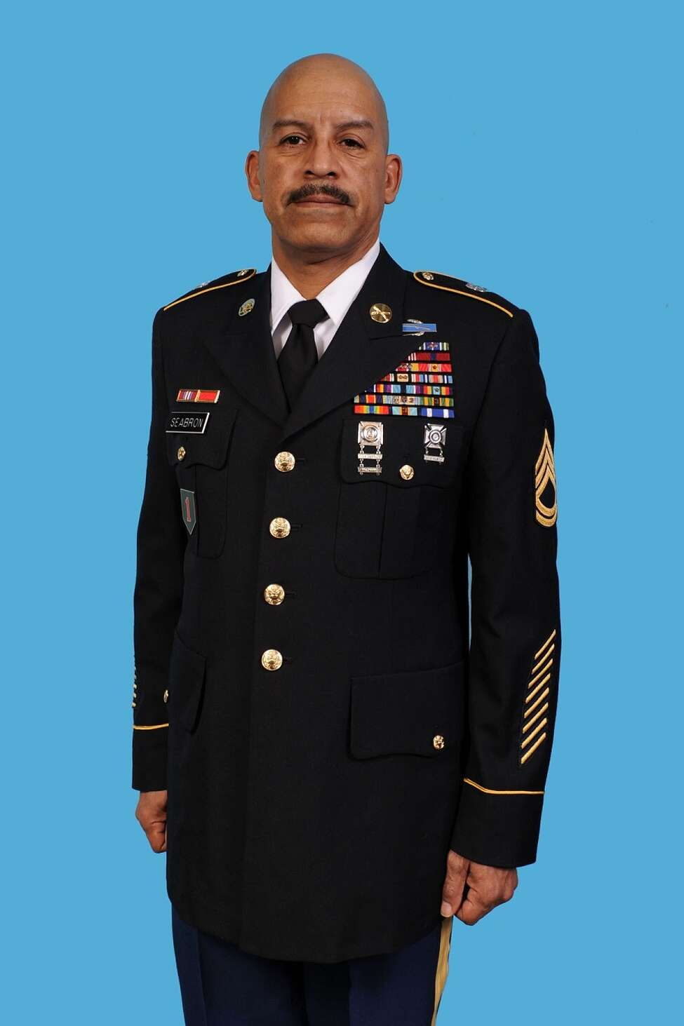 National Guard Master Sgt. Rudolph E. Seabron was killed in a 2017 hit-and-run crash while in Colonie for weekend training, town police said Monday. Police identified the pedestrian as 57-year-old Rudolph E. Seabron of Rome, Oneida County. (New York State Division of Military and Naval Affairs)
