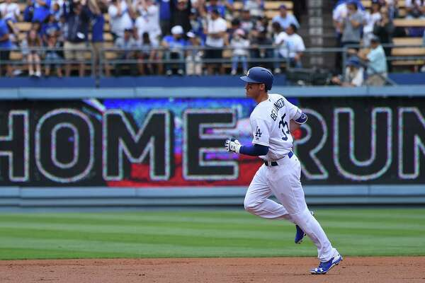 LOS ANGELES, CA - JUNE 11:  Cody Bellinger #35 of the Los Angeles Dodgers rounds the bases after a two run home run in the second inning of the game against the Cincinnati Reds at Dodger Stadium on June 11, 2017 in Los Angeles, California. (Photo by Jayne Kamin-Oncea/Getty Images) ORG XMIT: 700011187