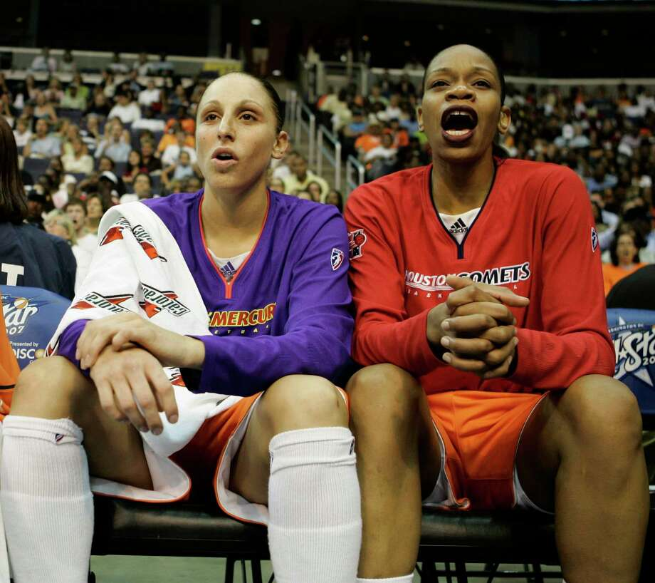 Diana Taurasi, left, and Tina Thompson were All-Star teammates in 2007 and now rank 1-2 on the WNBA's all-time scoring list. Photo: Evan Vucci, STF / AP