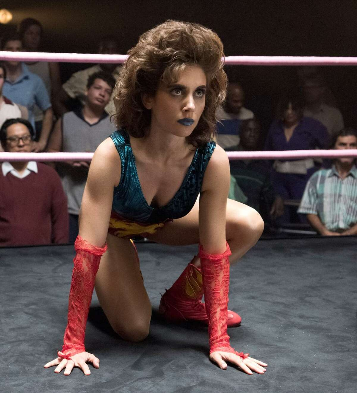 """Alison Brie stars as Ruth, a wannabe serious actress who isn't very talented, in """"GLOW."""""""
