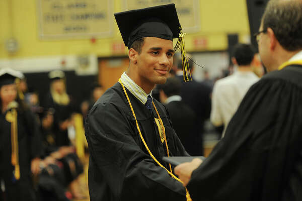 The Trumbull High School Class of 2017 graduation in Trumbull, Conn. on Monday, June 19, 2017.