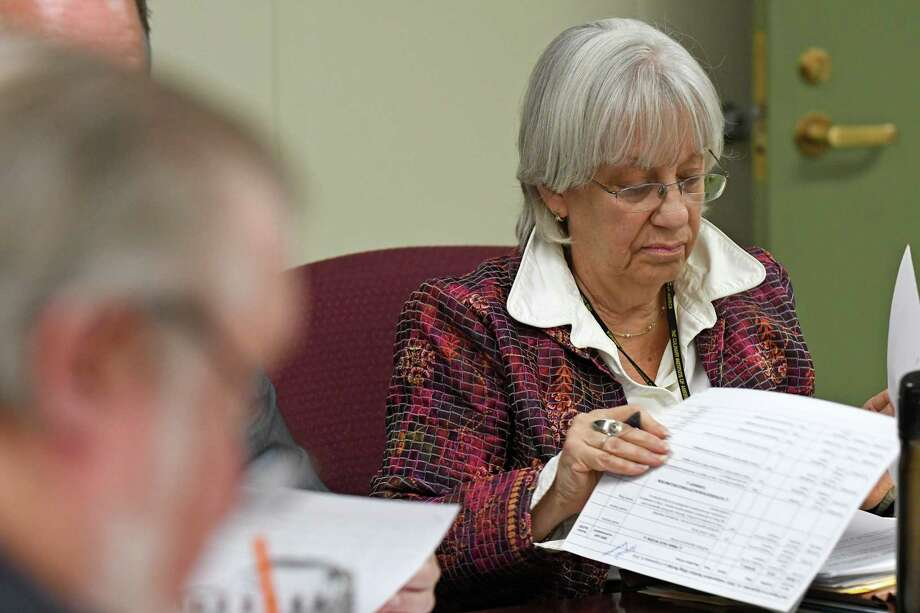 Independent Enforcement Counsel Risa Sugarman during a meeting of the State Board of Elections on Thursday Sept. 15, 2016 in Albany, N.Y. (Michael P. Farrell/Times Union) Photo: Michael P. Farrell / 40038045A