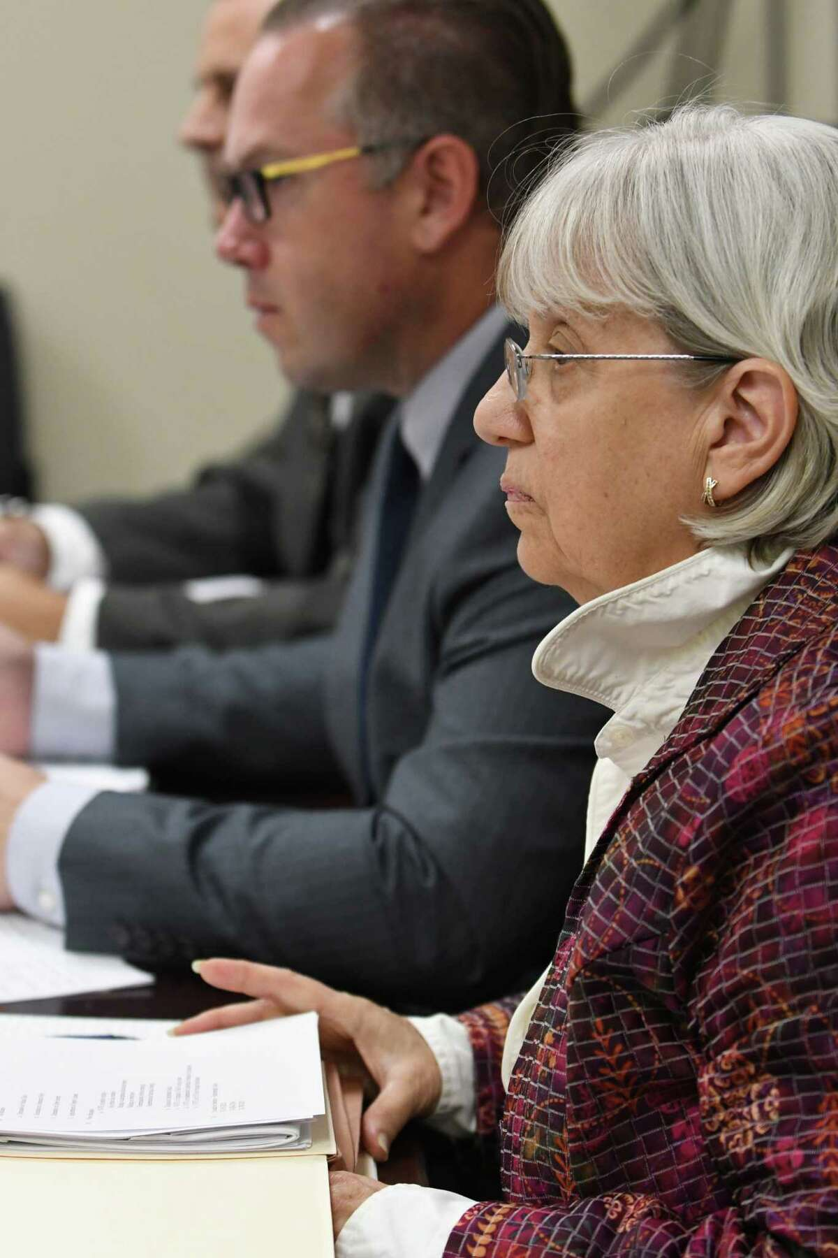 Independent Enforcement Counsel Risa Sugarman during a meeting of the State Board of Elections on Thursday Sept. 15, 2016 in Albany, N.Y. (Michael P. Farrell/Times Union)